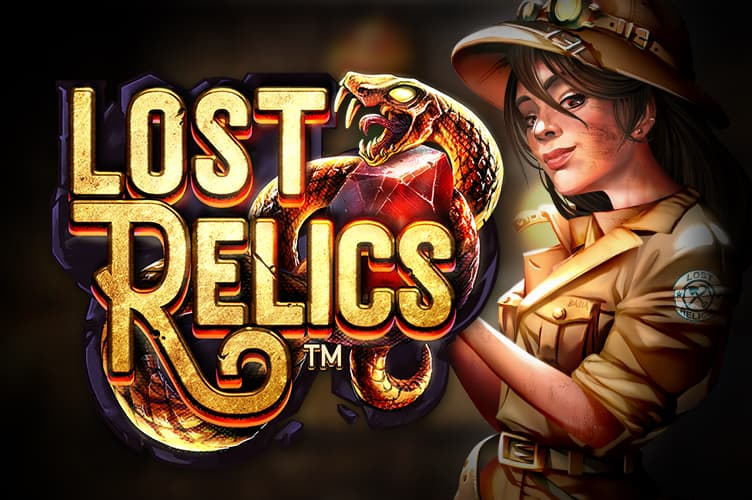 lost relics video slot game with netent slot features