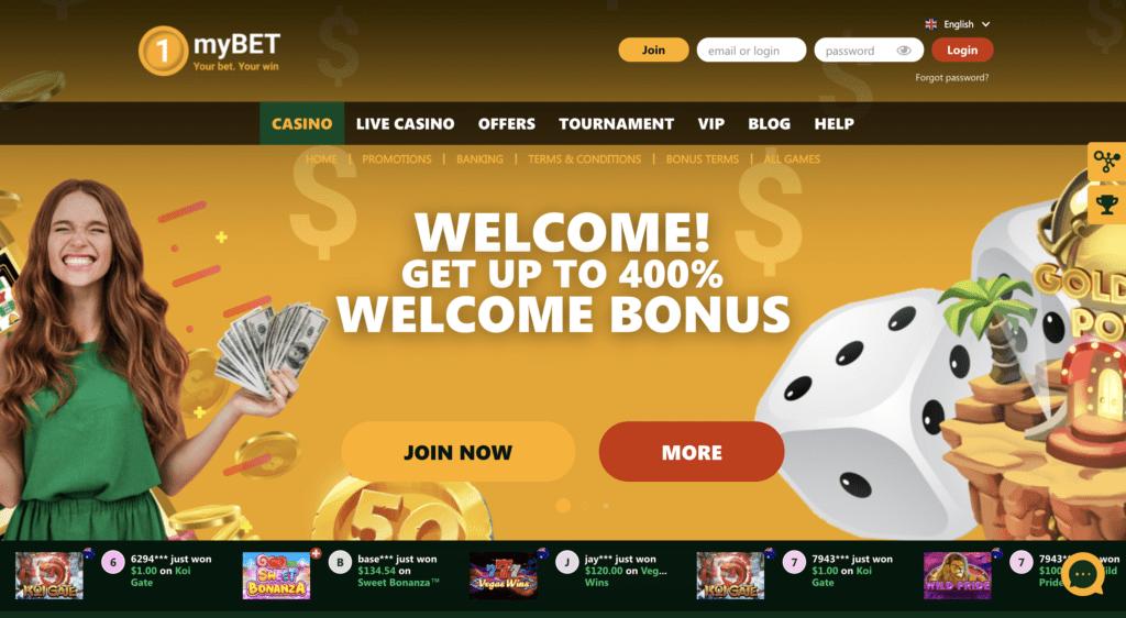 1mybet casino review