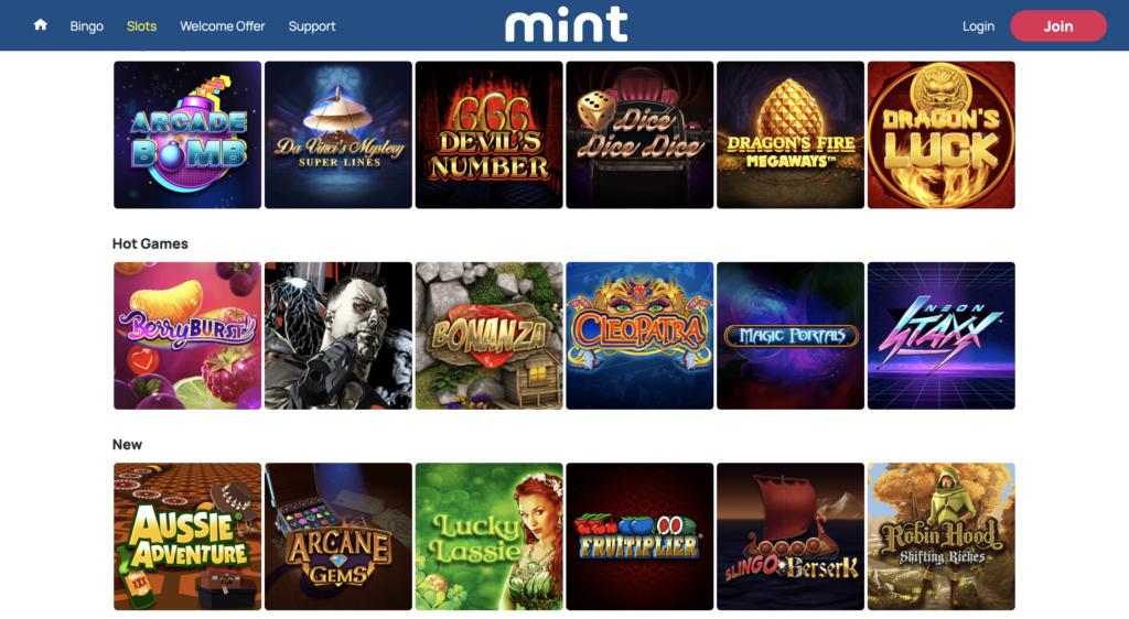 bingo and slot games