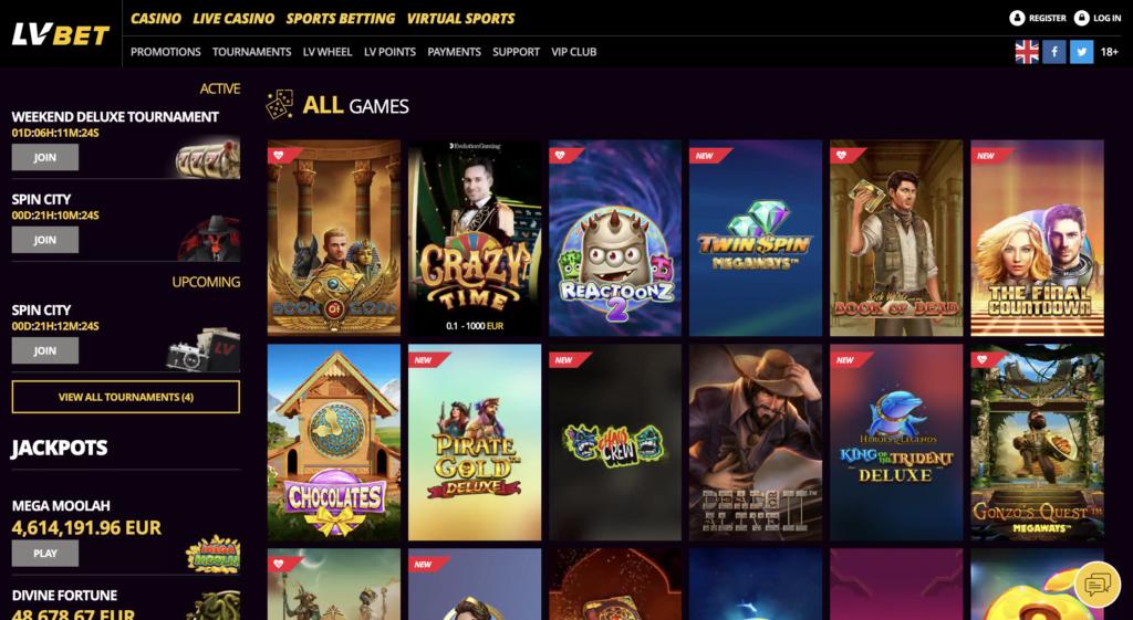 LV Bet Slot Games