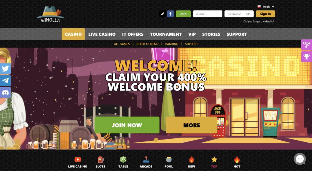 winolla casino review