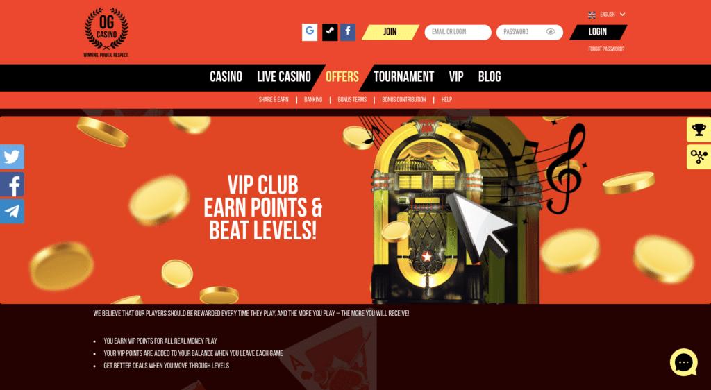 OG Casino VIP Club