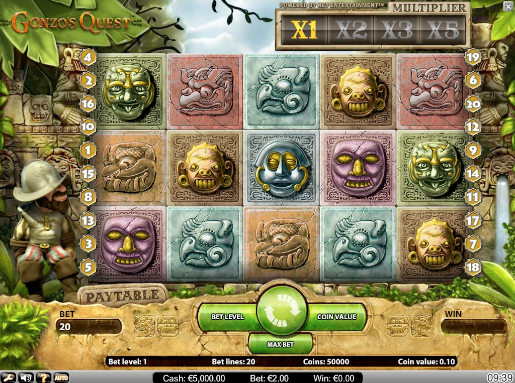 Aztec Slots - Gonzo's Quest