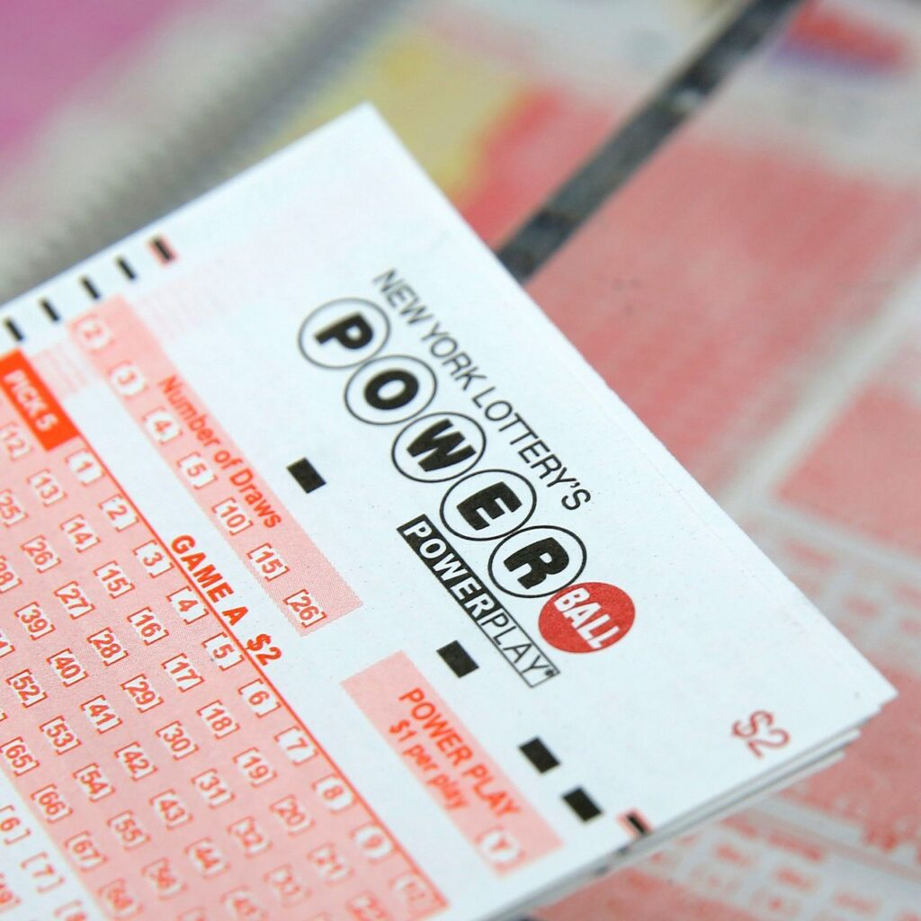new york USA powerball lottery ticket