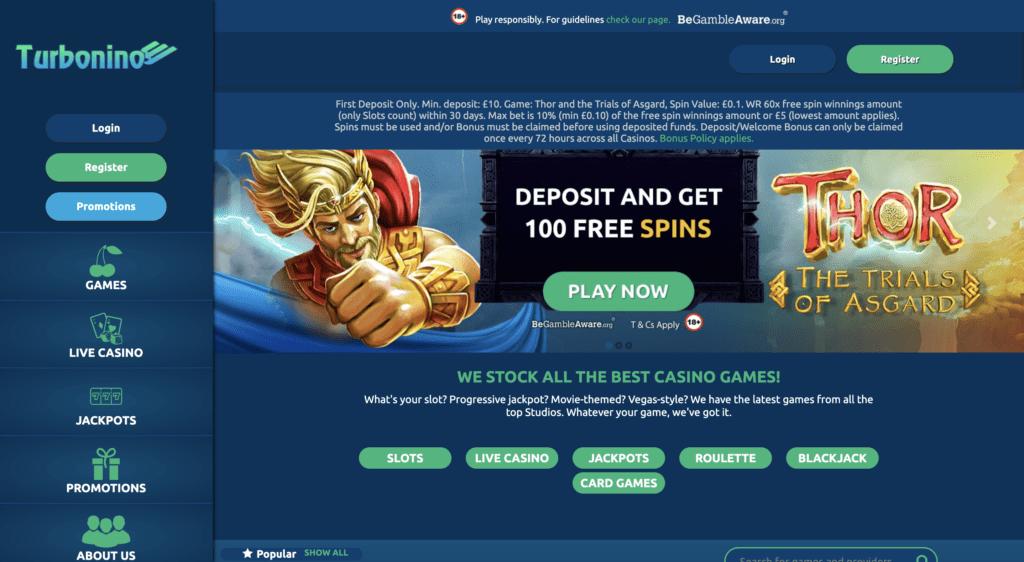 turbonino casino homepage