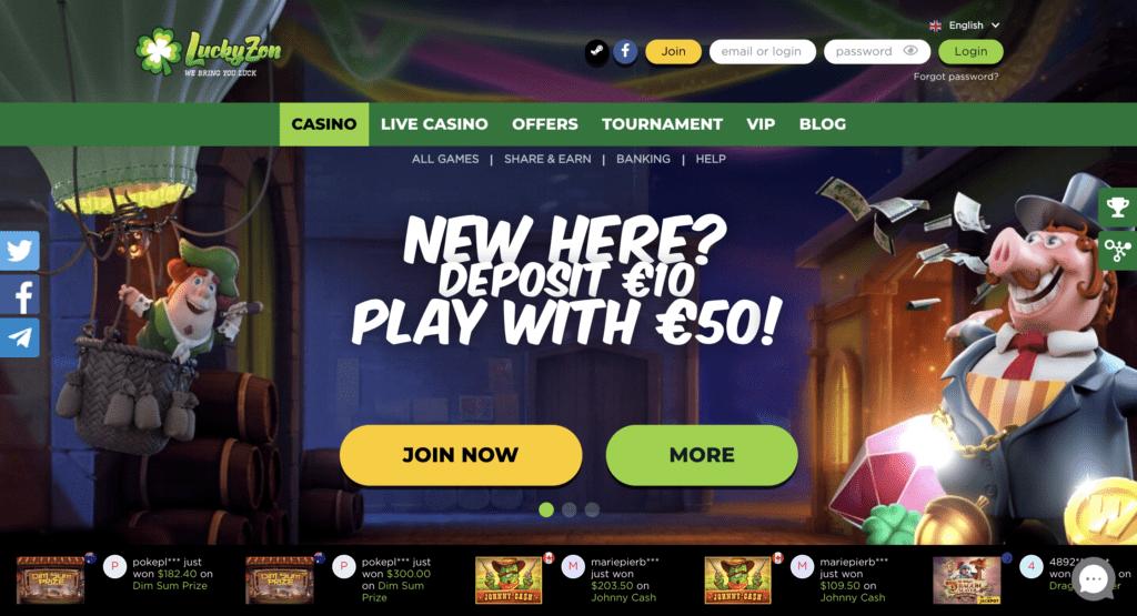 LuckyZon Casino Bonus Code
