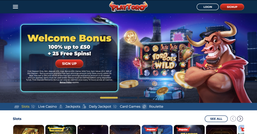 PlayToro Homepage
