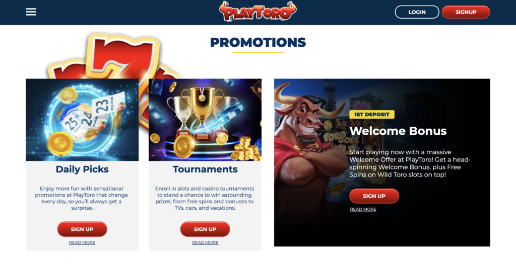 PlayToro Promotions
