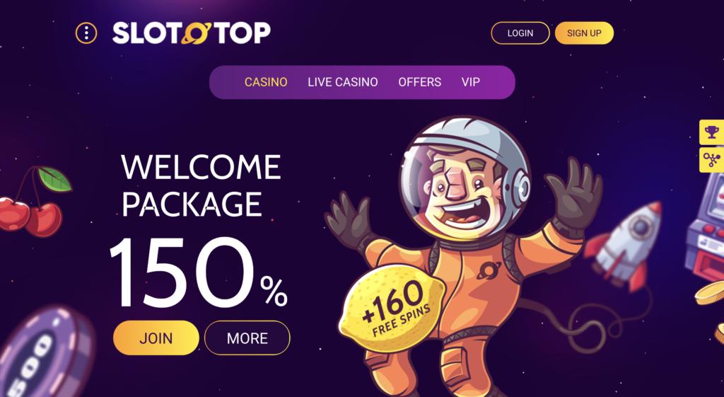 SlotoTop 150% Casino Bonus