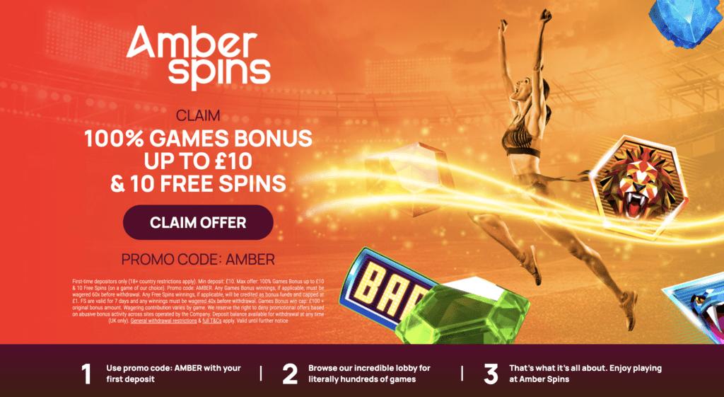 amber spins bonus code