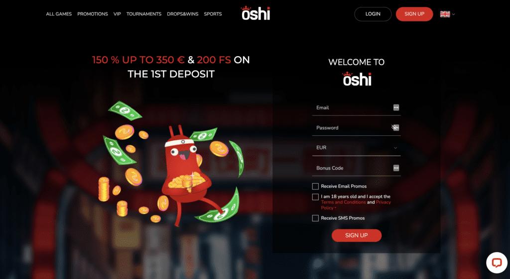 Casino Oshi Welcome Bonus