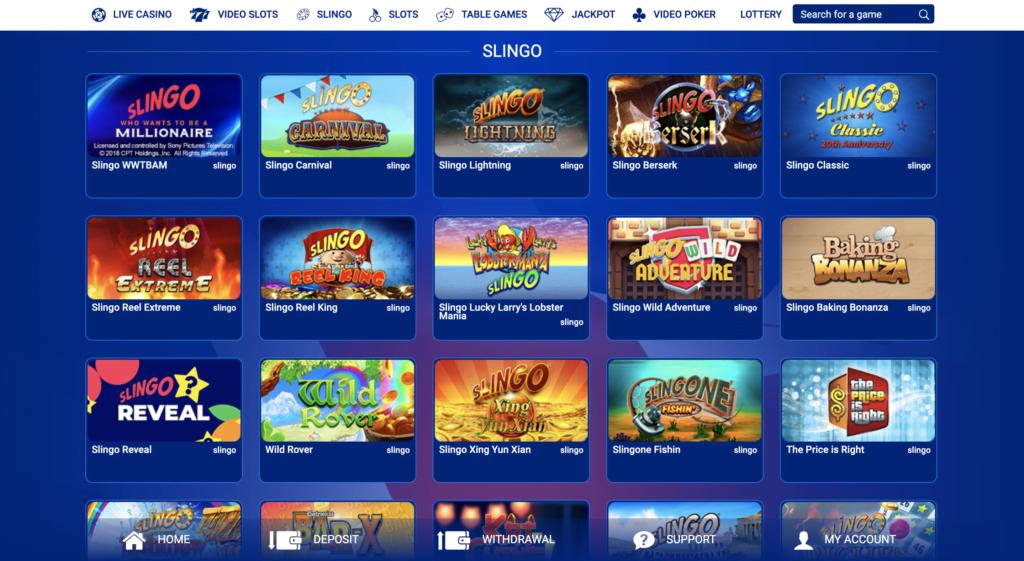 Slingo Games at All British Casino